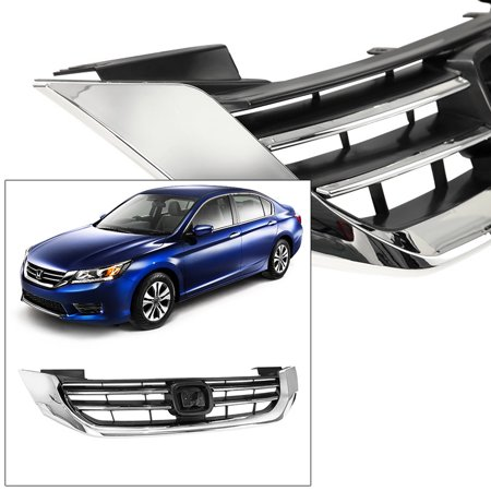 Front Grille Grill for Honda Accord 13-15 4 Cyl Radiator Air Flow Chrome Trim ()