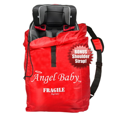 Angel Baby Red Polyester Car Seat Travel Bag