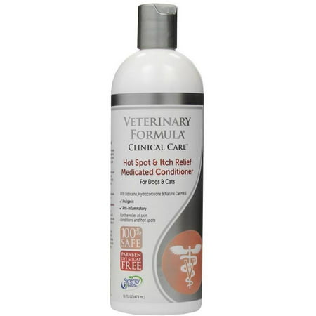 Veterinary Formula Clinical Care Hot Spot and Itch Relief Medicated Conditioner for Dogs and Cats, 16 fl oz