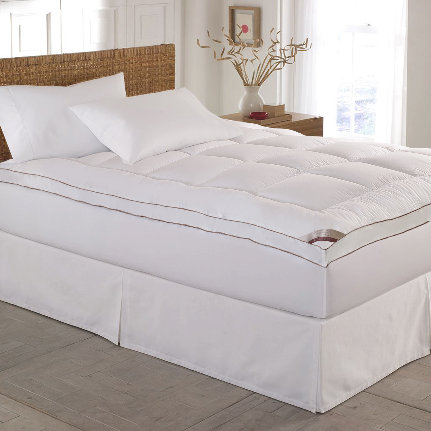 kathy ireland Home 233 Thread Count Down Alternative Fiber Bed Mattress Pad Topper by Overstock