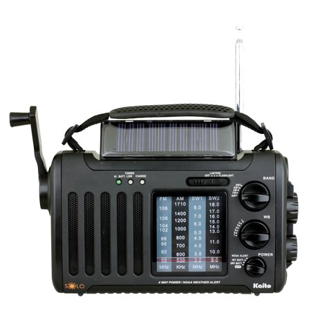 4-Way Powered Emergency Weather Alert Radio With Cell Phone Charger -