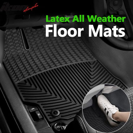 Compatible with 12-17 Toyota Camry Latex All Weather Floor Mat Carpet (2006 Toyota Tundra All Weather Floor Mats)