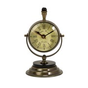 Classy and Arty Soren Brass Table Clock