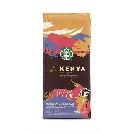 Starbucks Premium Select Collection, Kenya African Blend Medium Roast Coffee, Whole Bean, 9 oz.