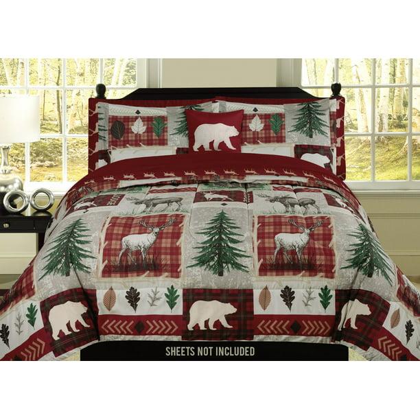 Deer Elk Rustic Cabin Twin Comforter