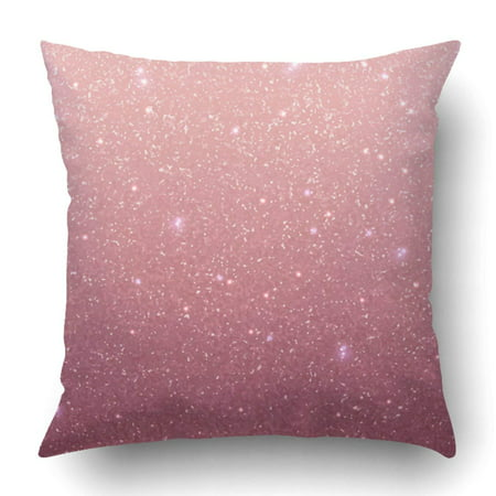 WOPOP Rose gold glitter texture Rose sequins Pink sparkle pattern Pillowcase Throw Pillow Cover Case 20x20 inches ()