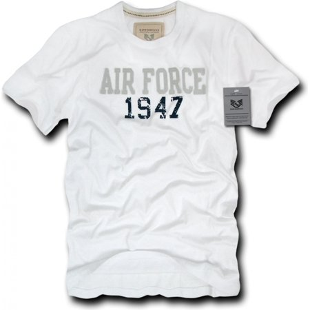 - R52-AIR-WHT-04 Seal Beach, Applique Military T-Shirts, Air Force, White, X-Large