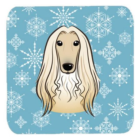 Snowflake Afghan Hound Foam Coasters, Set Of 4](Foam Snowflakes)