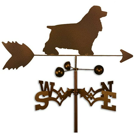 SWEN Products Inc Handmade Cocker Spaniel Dog Copper Weathervane