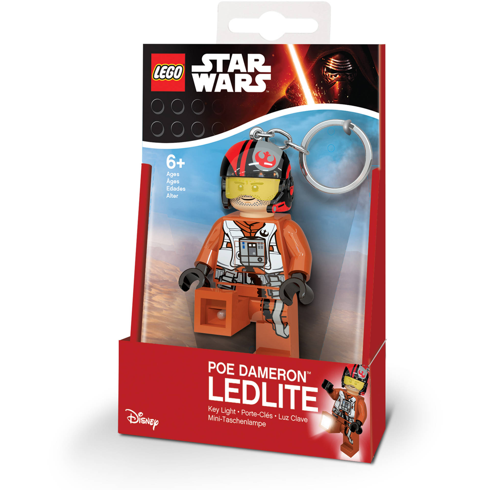LEGO Star Wars Poe Dameron Key Light, Batteries Included