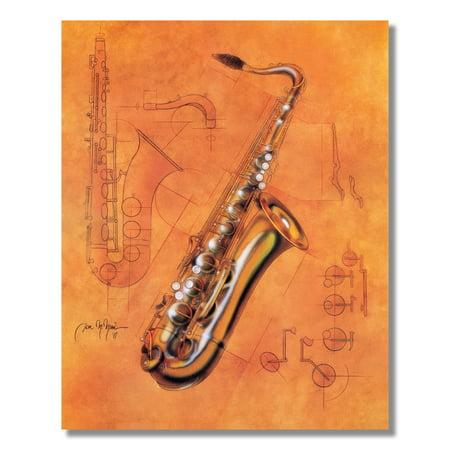 Brass Saxophone Musical Wall Picture 8x10 Art Print 6 Brass Wall Art