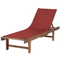 """Classic Accessories Montlake™ FadeSafe® Patio Chaise Lounge Slipcover - Water Resistant Outdoor Furniture Cover, 80""""L x 26""""W, Heather Henna"""
