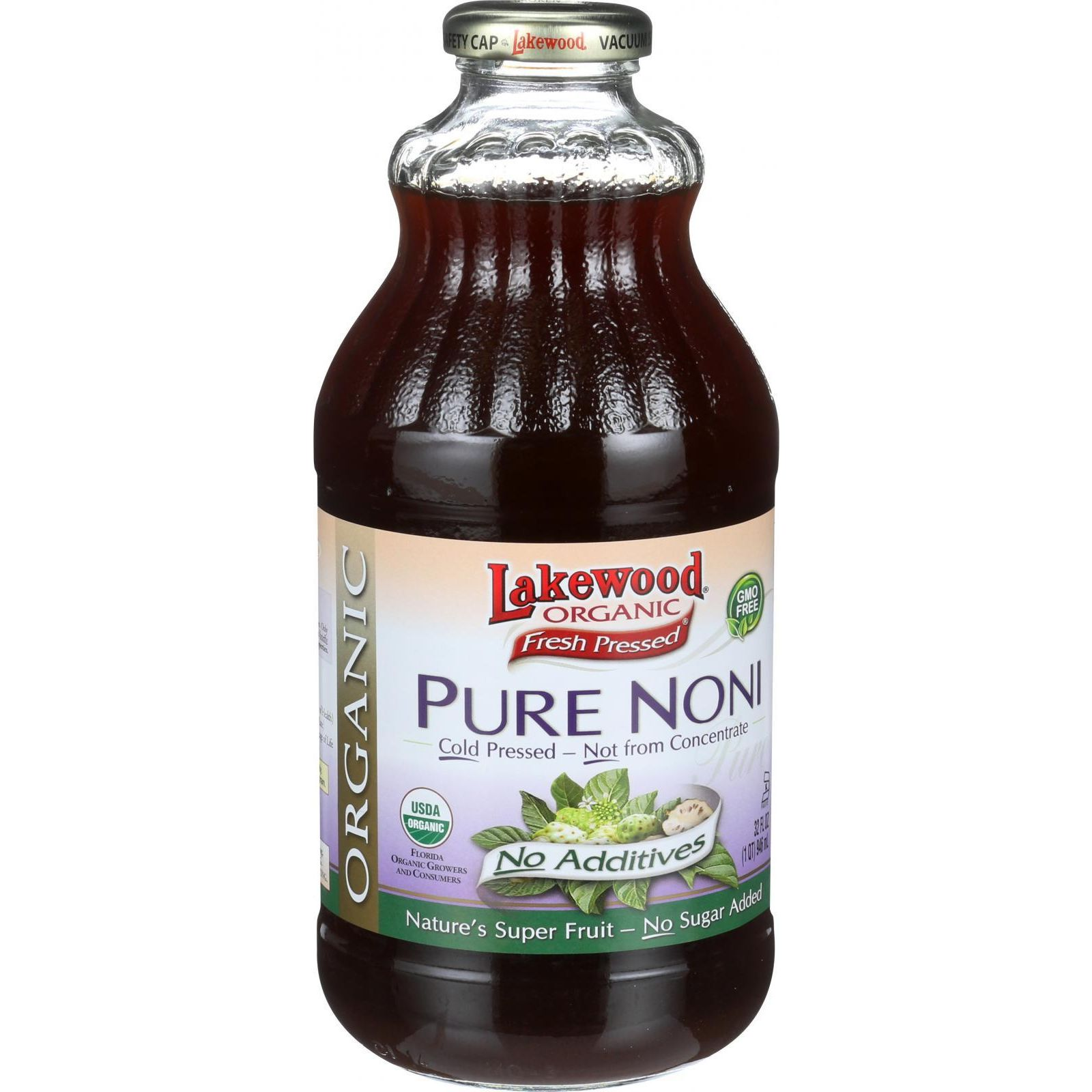 Lakewood Organic Noni Juice - Pure - 32 Oz