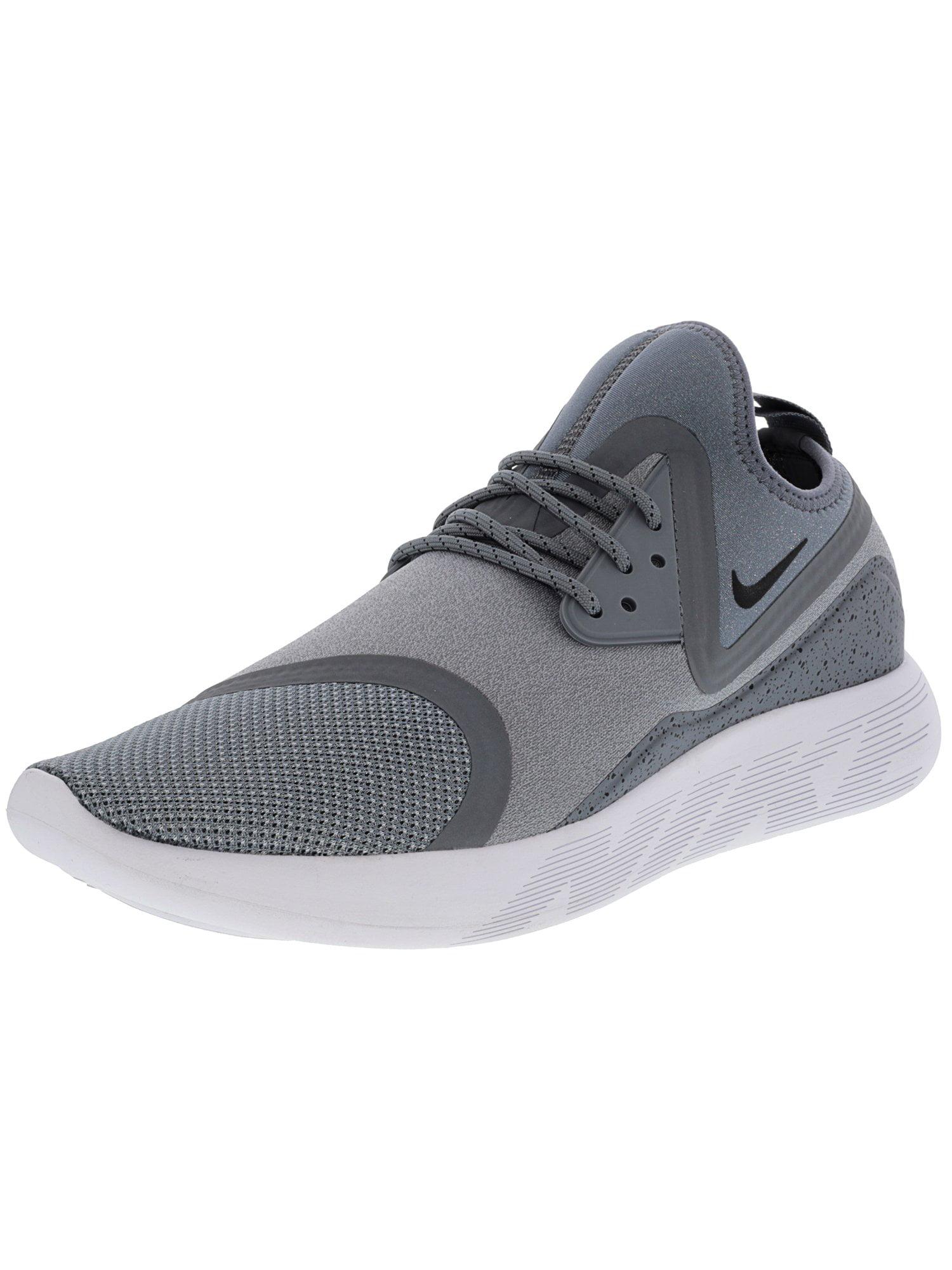Nike Men's Lunarcharge Essential Black / Dark Obsidian-Volt Ankle-High Fabric Running Shoe - 11.5M