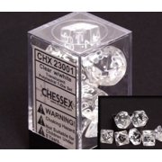 Chessex Polyhedral 7-Die Translucent Dice Set - Clear