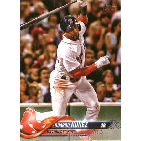 2018 Topps 76 Eduardo Nunez Boston Red Sox Baseball Card