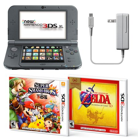 Nintendo 3DS XL Portable Gaming Console Bundle, Black
