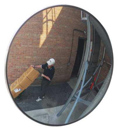Outdoor Convex Mirror,48 Dia,Acrylic ZORO SELECT TCVO-SR-48T-PB