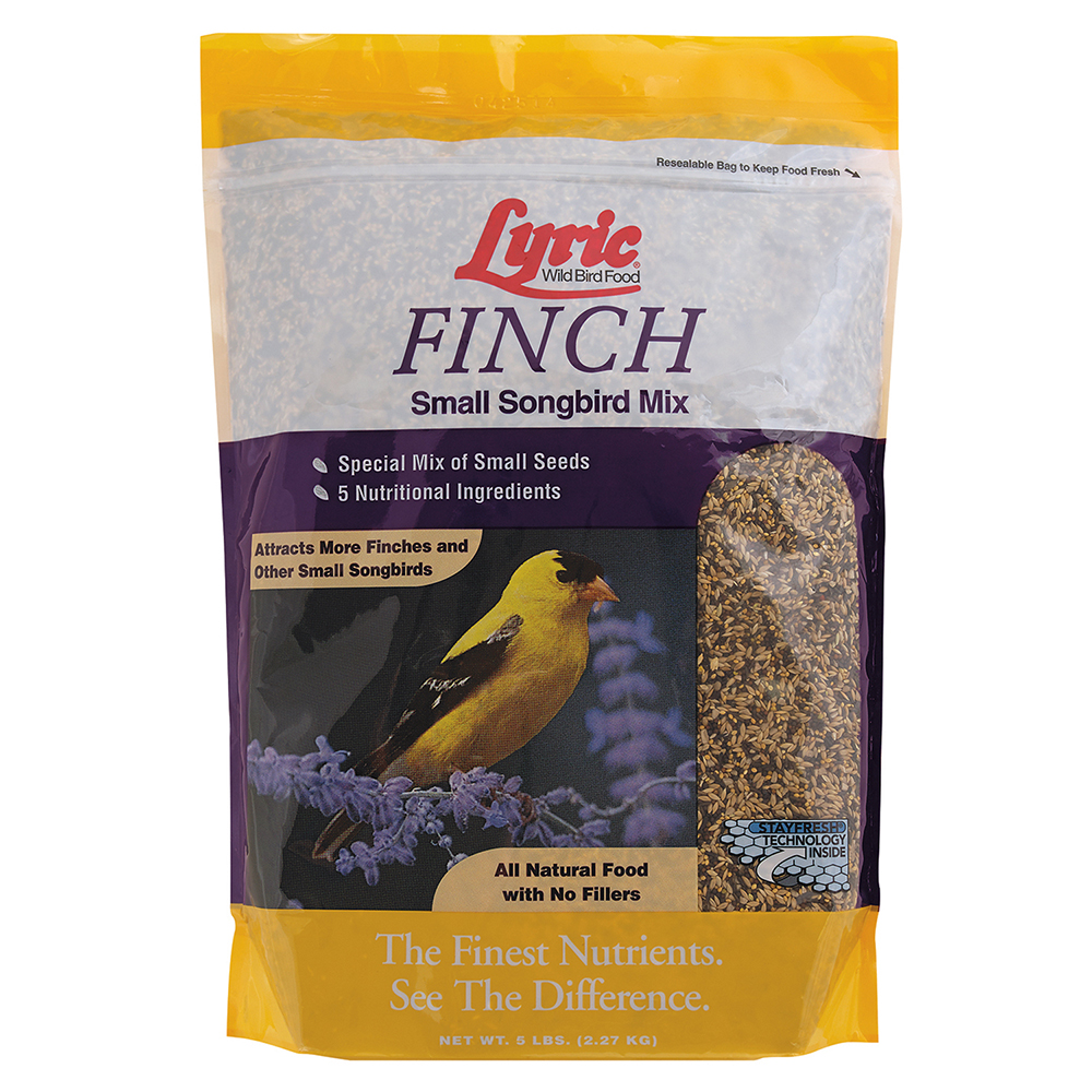 Lyric Finch Small Songbird Wild Bird Mix, 5 lb.