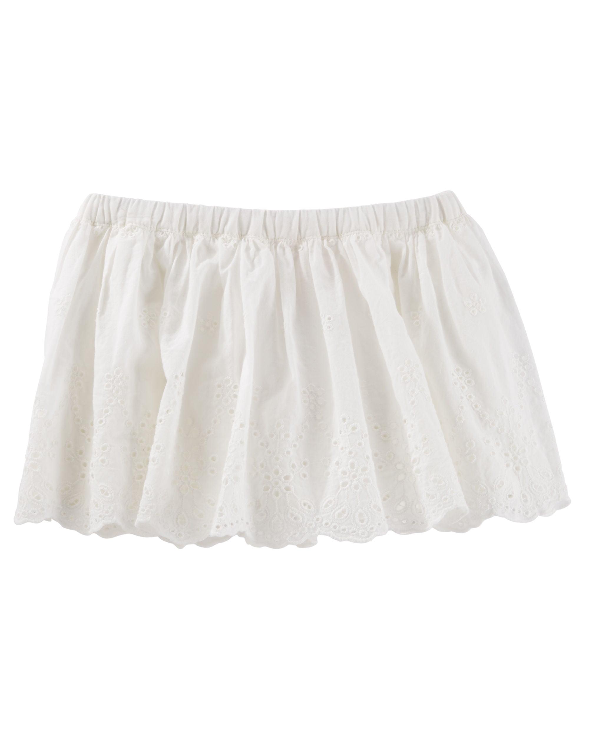 OshKosh B'gosh Baby Girls' 2 Piece Eyelet Border Skirt, 18 Months