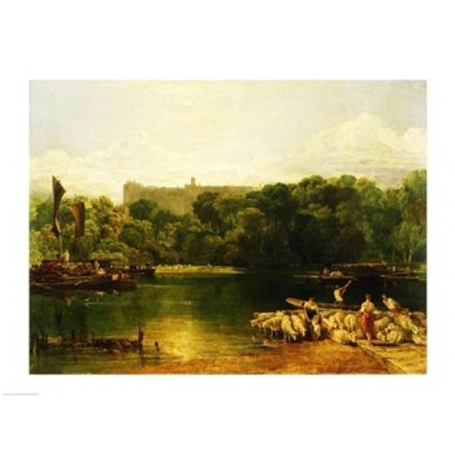 Windsor Castle From The Thames Poster Print by J.M.W. Turner - 36 x 24 in. - Large - image 1 de 1