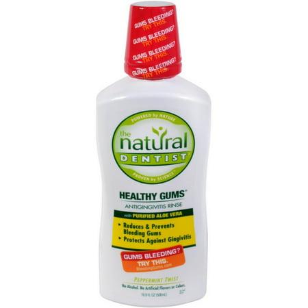 THE NATURAL DENTIST Hydratante santé Gommes gingivite Rinse, menthe poivrée Twist 16,90 oz (Pack de 6)