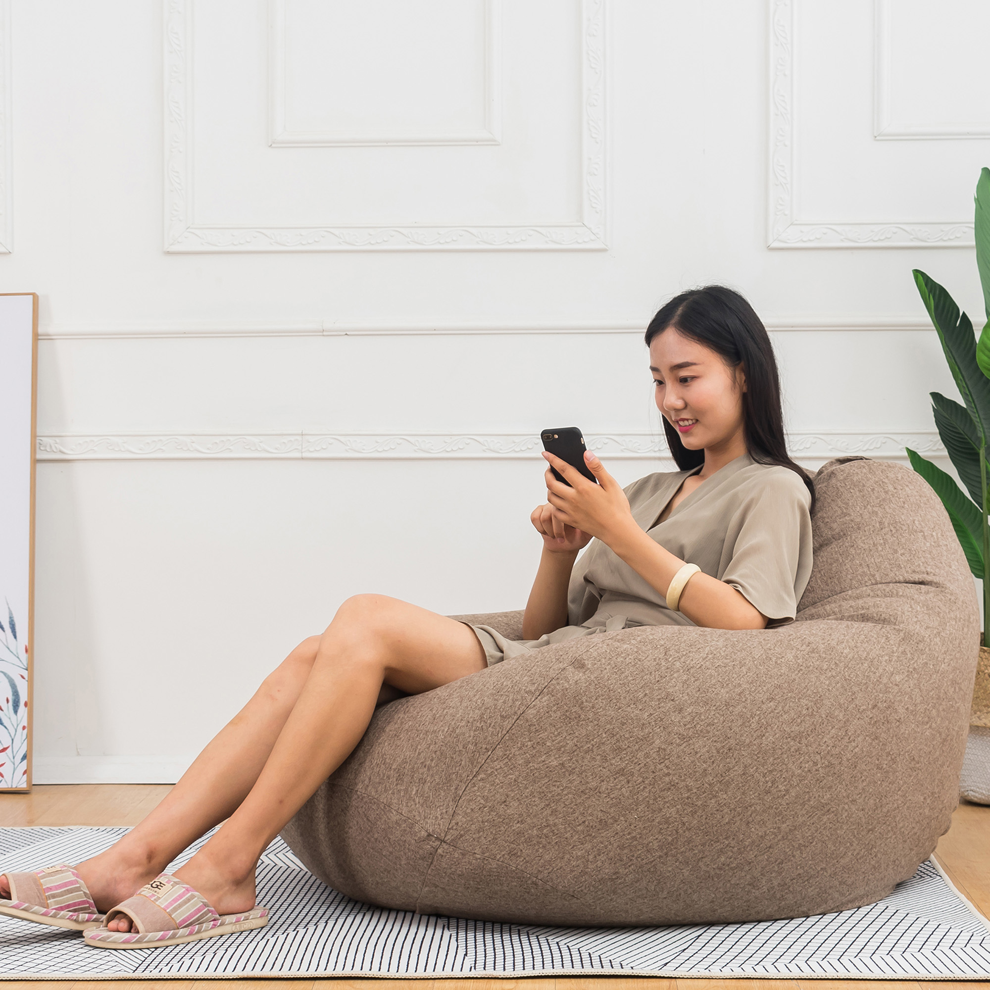 NK Extra Soft Beanbag Chair (Cover Only), Memory Foam Bean ...