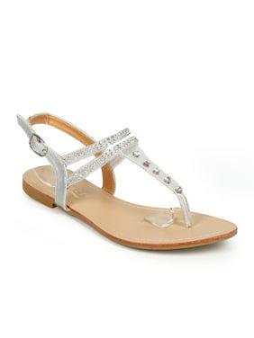 3a8152135 Product Image Glaze CI20 Women Jelly Rhinestone Slingback T-Strap Thong  Sandal