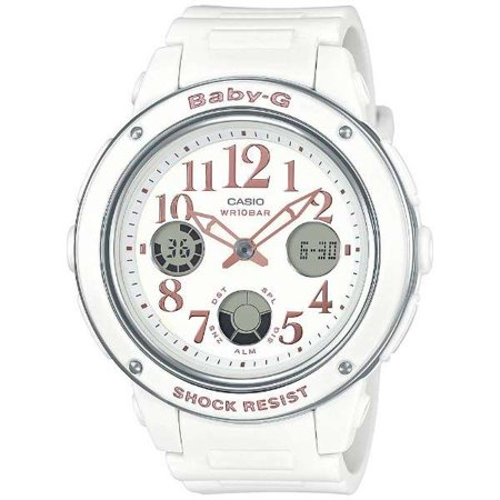 Casio Women's Baby G BGA150EF-7B White Rubber Quartz Sport Watch