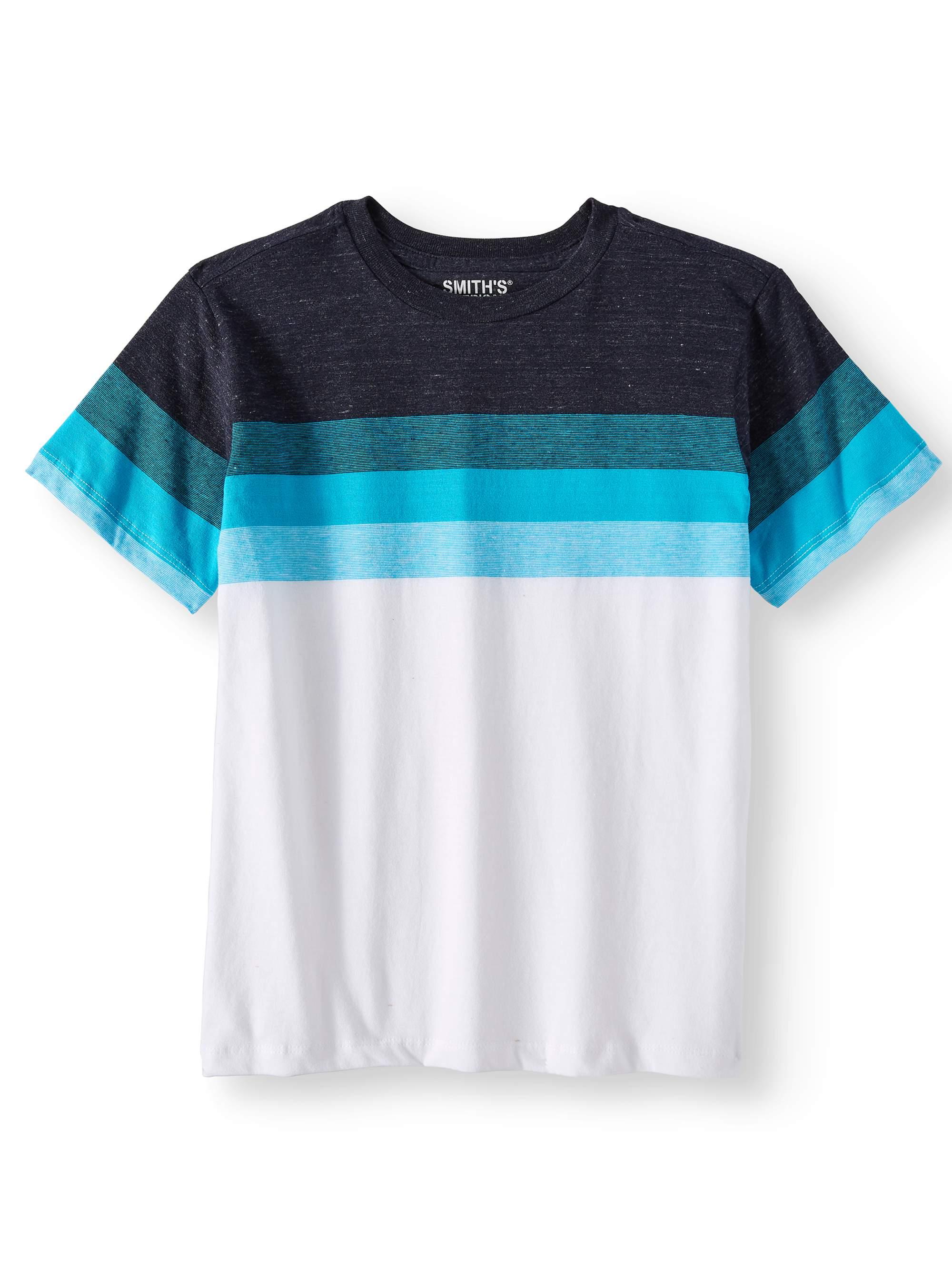 Short Sleeve Retro Stripe Tee Shirt (Big Boys)