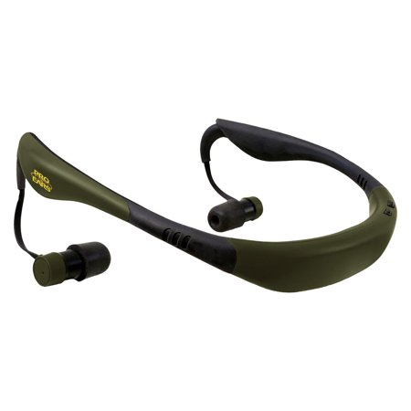 Pro Ears Stealth 28 - PEEBGRN - Electronic Hearing Protection & Amplification - NRR 28 - Behind The Head Ear Buds - Digital Earbuds, Green (Behind The Ear Earbuds)