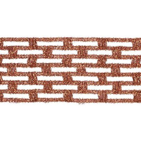 """Vickerman 4"""" Copper Metallic Rectangle Mesh Christmas and Craft Ribbon. 4"""" x 10 Yards in Length Wired Edge to Allow for Shaping and Bending. - image 1 de 1"""
