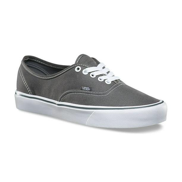 Vans Authentic Lite Canvas Pewter Men's Classic Skate Shoes Size 11