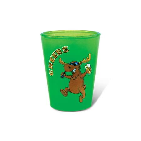 Green Neon Shot Glass Moose - Neon Glasses