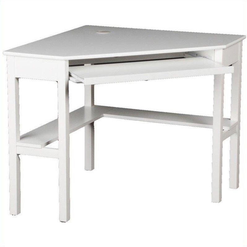 Southern Enterprises Alexander Corner Computer Desk in White