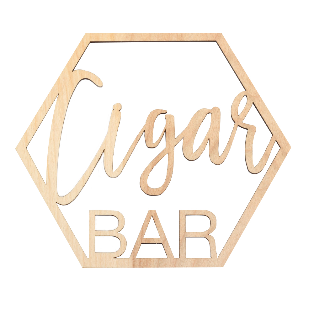 Koyal Wholesale Wood Cigar Bar Sign, Party Banner, Decorations For Wedding, Bachelor Party, Cigar Lounge, Man Cave, Den