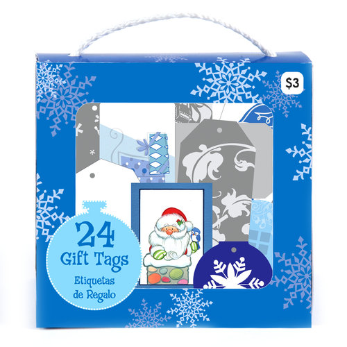 Holiday Time Purse Tags, Blue, 24-Pack