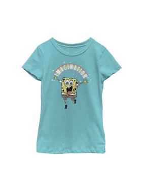 SpongeBob SquarePants Girls' Imagination Rainbow T-Shirt