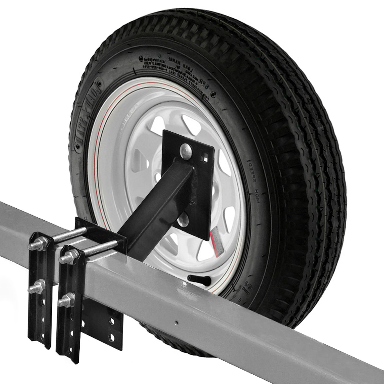 Spare Tire Carrier For Boat And Utility Trailer Mount Return From Wiring A To Trailers Fits 4 Or 5 Lug Wheel No Drill Bracket