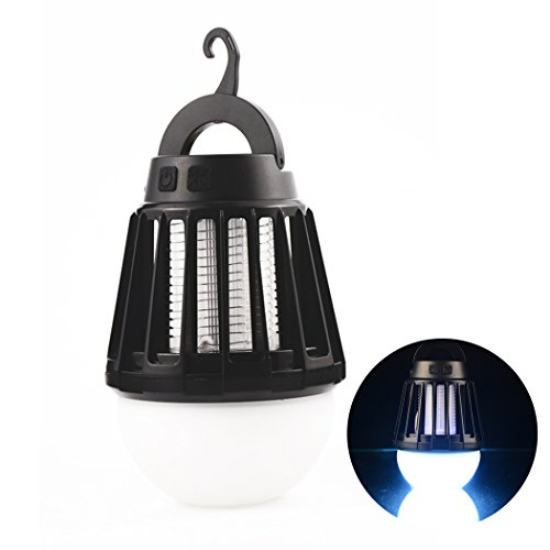 LED Camping Lantern, Wanfei Portable 2 in 1 Rechargeable LED Lantern Electronic Insect Mosquito Killer Lamp IPX6... by LIVEDITOR LIGHTING