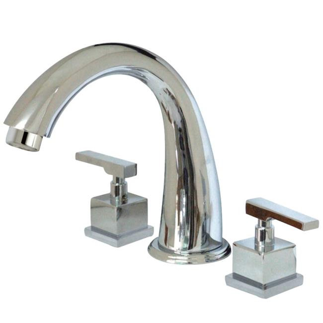 Kingston Brass KS236.QLL Executive Deck Mounted Roman Tub Filler with Lever Hand