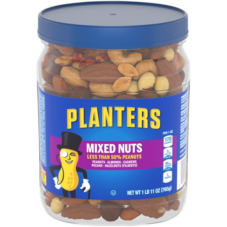 Planters Less than 50% Peanuts Mixed Nuts, 1.69 Lb. (Halloween Snack Mix Without Nuts)