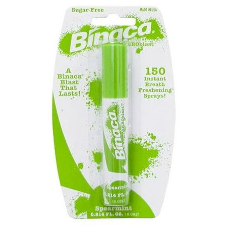 Binaca sugar-free Aeroblast 150 Breath Spray, Spearmint 0.2 oz - image 1 of 1