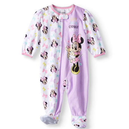 Minnie Mouse - Minnie Mouse Microfleece Footed Blanket Sleeper (Baby Girls)  - Walmart.com 410940c8b