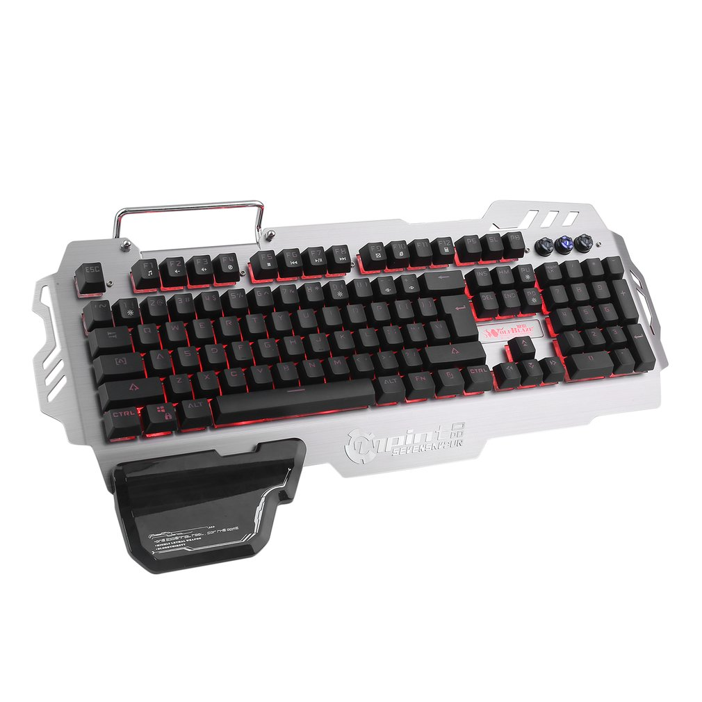Ergonomic Design Wired Backlight Gaming Keyboard Mechanical Feeling 104 Keys Waterproof Keyboard For PC Laptop PK-900