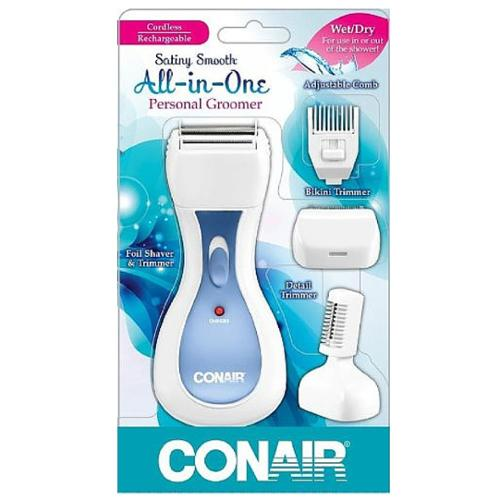 Conair Satiny Smooth Ladies All-in-One Personal Groomer 1 ea (Pack of 4)