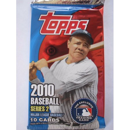 1 (One) Sealed Pack of 2010 Topps Series 2 Baseball Hobby Pack (10 Cards/Pack)