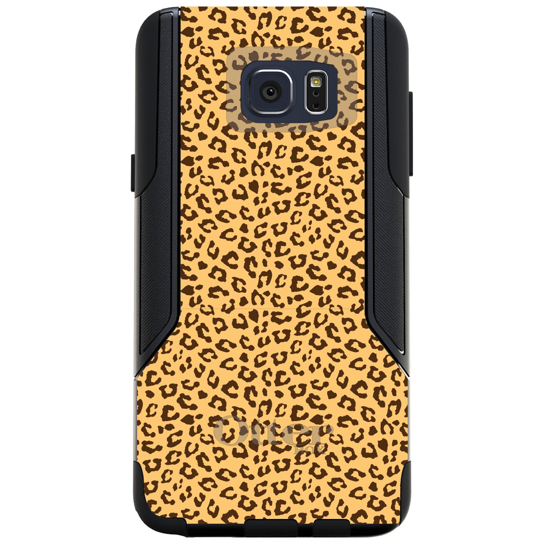 DistinctInk™ Custom Black OtterBox Commuter Series Case for Samsung Galaxy Note 5 - Beige Tan Brown Cheetah Skin Spots