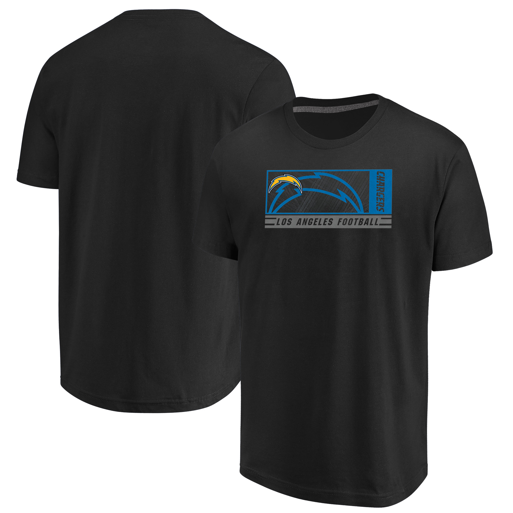 Los Angeles Chargers Majestic Hook and Ladder T-Shirt - Black