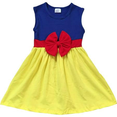 fabca83315 BNY Corner - Little Flower Girl Kids Cute Sleeveless Bow Summer Party  Flower Girl Dress Yellow 3T S 201280 BNY Corner - Walmart.com